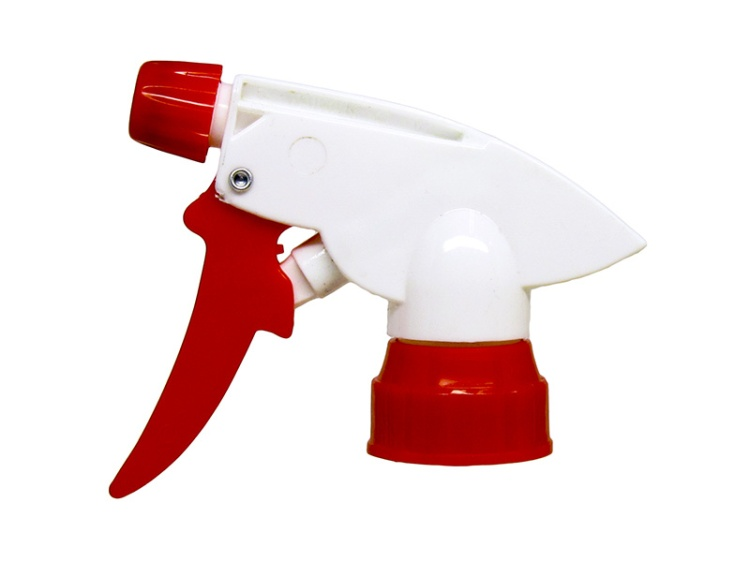 Red Nozzle Cap, White Trigger Sprayer