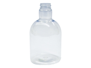 450ml Clear PET Plastic Bottle, Round