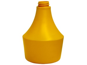 500ml General Yellow HDPE Plastic Bottle