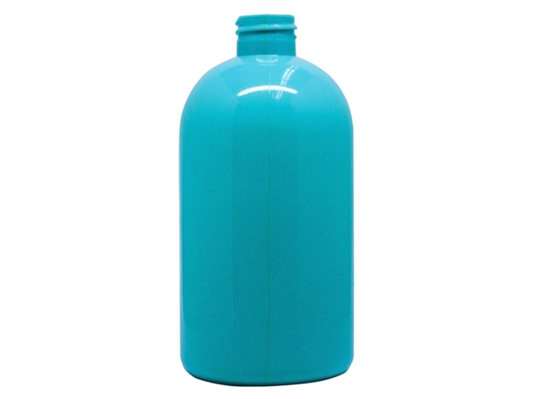 500ml Round Blue-Green PVC Plastic Bottle