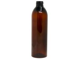 300ml Cylinder Round Amber PET Plastic Bottle, Slim