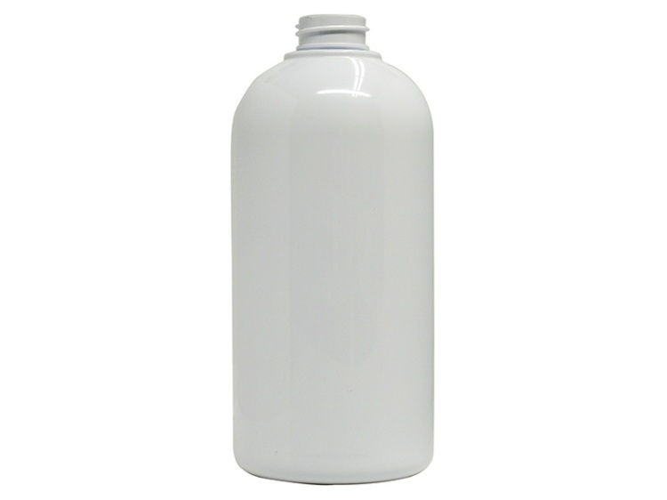 500ml Ellipse Oval White PET Plastic Bottle