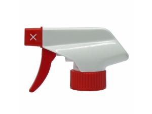 Red White Chemical Resistant Trigger Sprayer