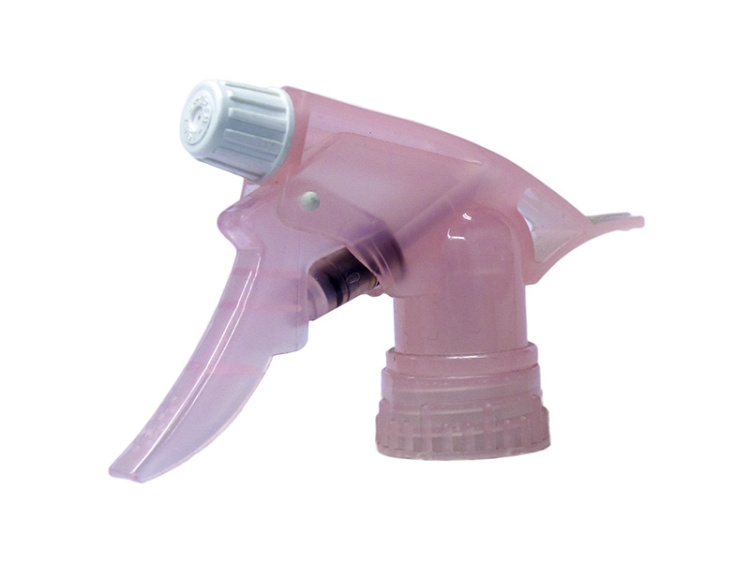 Translucent Pink Chemical-Resistant Trigger Sprayer