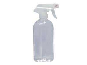 Clear Pro PET Spray Bottle 500ml with Clear Spray Nozzle