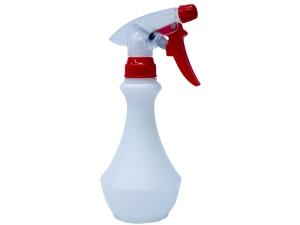 Translucent White HDPE Spray Bottle 280ml with Red/White Spray