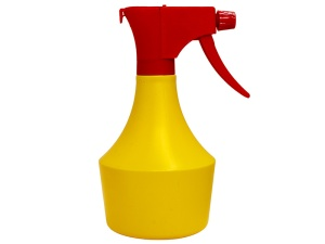 Yellow HDPE Spray Bottle 500ml with Red Sprayer