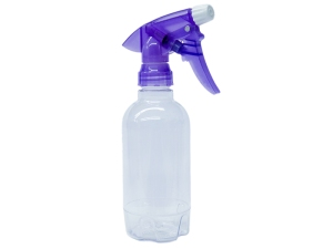 Clear PET Spray Bottle 320ml with Translucent Purple Sprayer