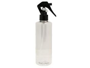 Clear PET Spray Bottle 250ml with Easy Mini Black Sprayer
