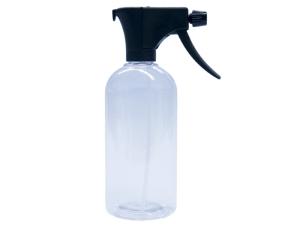 Clear PET Spray Bottle 500ml with Black Sprayer