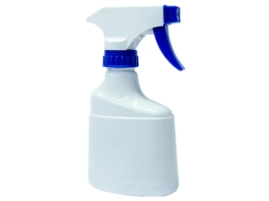 PRO White PVC Spray Bottle 220ml with Blue/White Sprayer
