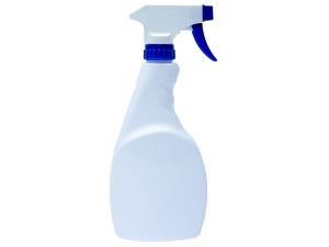 White PET Spray Bottle 500ml with Blue White Trigger Sprayer