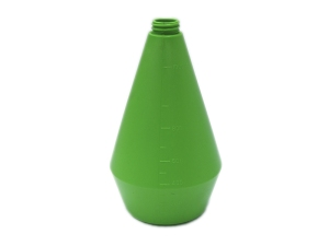 Green HDPE Plastic Bottle, Specialty Shapes